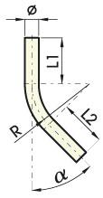 Schéma courbes 45°