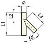 Schéma courbes Y 45°