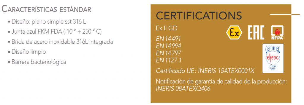caractéristiques et certification